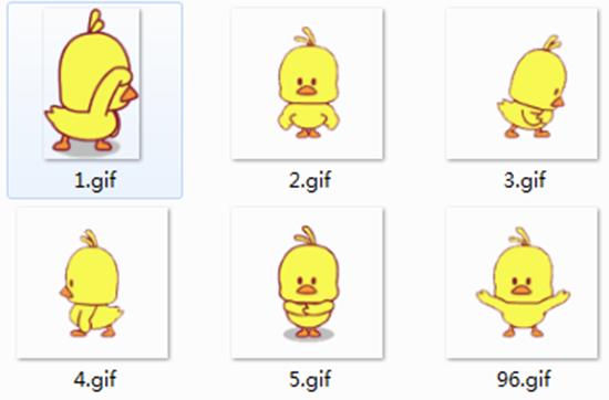 小黄鸭表情动骰子动态微信表情图片