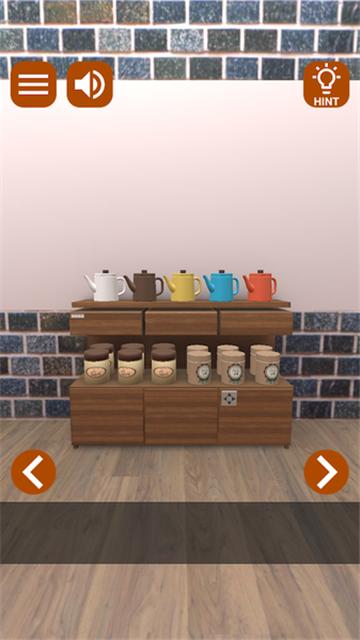 逃脱游戏充满咖啡香气的房间