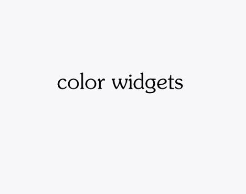Color Widgets小组件