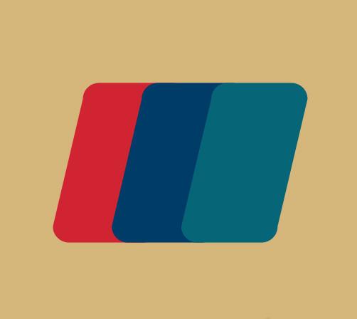 2版图中央有红蓝绿三个圆角平行四边形猜一