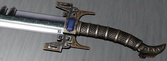 秦时明月鲨齿剑3d模型高清图片一览图片