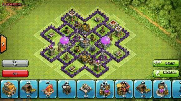 部落战争 布阵 技巧 怎么/然后放上自己的单体攻击建筑。