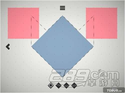 方的那个粉红色正方形,移动到下面的那个蓝色正方形上面.(如下