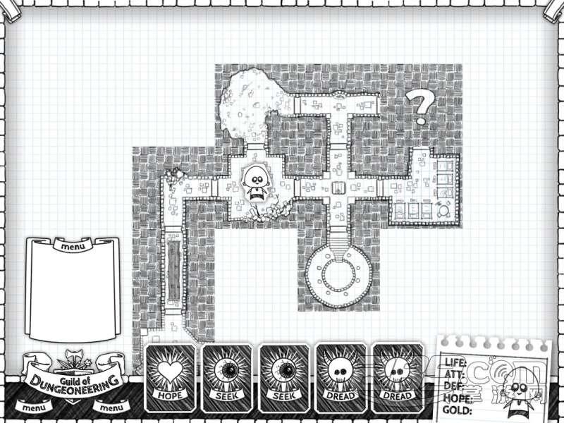 黑白手绘风创意之作《guild of dungeoneering》曝光!