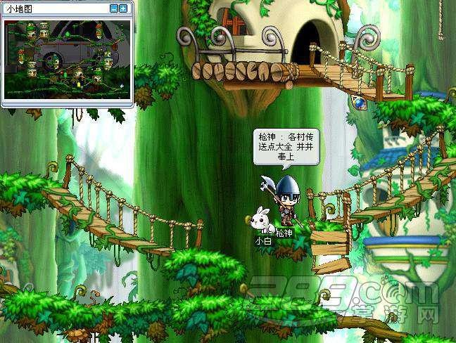 冒险岛手游冒险地图魔法密林怎么走
