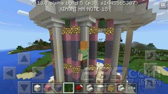 我的世界手机版亭子怎么建?建筑教程水中庭院建造攻略图片