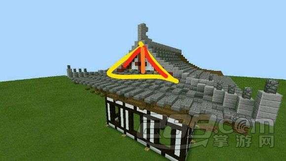 我的世界手机版中式建筑屋顶怎么建造 中式建筑屋顶建造教程图片