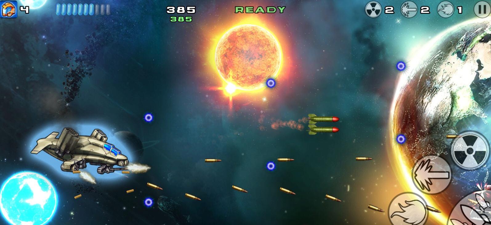《星际战机:杀戮之战》(Starfighter Overkill)是一款非常不错的弹幕类游戏,游戏中,玩家除了要躲避弹幕外,还要将对方不断出现的敌机打败,游戏还是有一定的难度的。下面我们就为大家送上这款游戏的一些精彩截图。