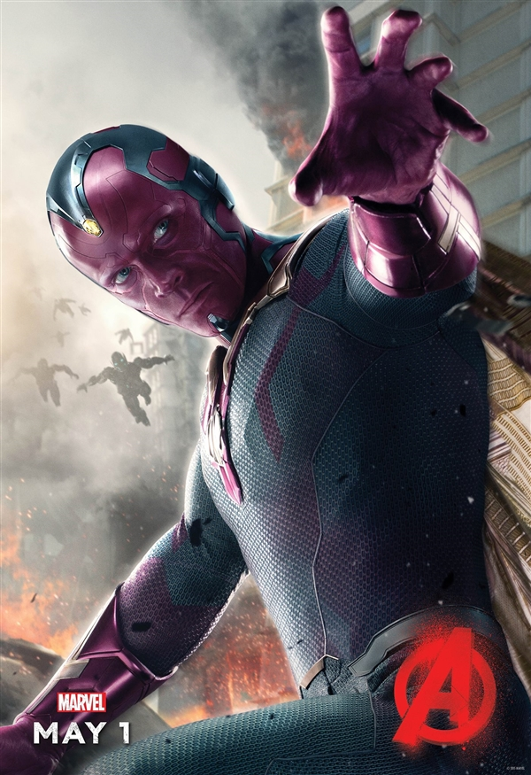 《复仇者联盟2》最后角色海报:幻视登场