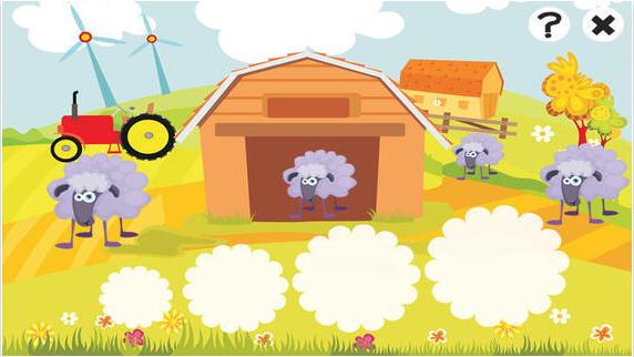 2-5岁有关农场的动物的拼图游戏