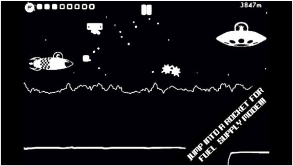 *纯很棒的游戏:奔跑,跳跃,投篮,收集! *空气供给游戏机械-你的空气不断下降——皮卡02罐增加它,让自己活着! *华丽的视网膜显示屏1位图形在光荣的黑色和白色! *宇宙1位音乐Beep先生,用ZX频谱!八轨磁带解锁! *GameCentre排行榜!你能跑多远?:D *抓住powerups !放慢你的速度,抓住一个完整坦克的空气,或用盾牌保护自己!