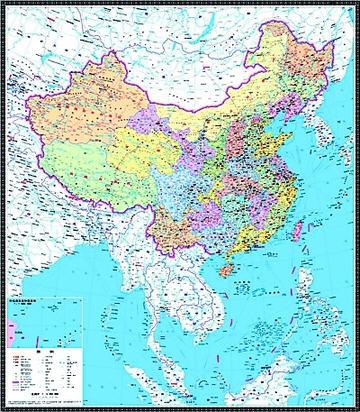 中国竖版地图高清大图下载